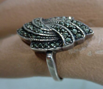 Sterling Silver and Marquisette Ring Circa 1920's