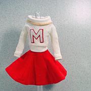 Vintage Mattel Barbie Outfit, Cheerleader, Excellent & Complete, 1964!