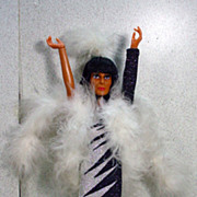 "Mego 12"" Cher Doll is Bob Mackie Design Gown, 1970's!"