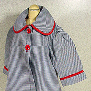 1950's Gabardine Doll Coat and Matching Hat