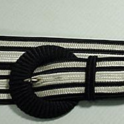 Vintage 1980's Yves Saint Laurent Woven Silk Black and White Ladies Belt, French!