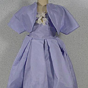 Vintage Madame Alexander  Cissy Lavender Taffeta Cocktail Dress with Bolero Jacket, 1950's