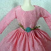 Original Bild Lilli Pink Taffeta Cocktail Dress, 1950's