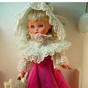 Beautiful 1960's Furga Doll, All Original!