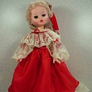 Adorable 1960's Furga Vinyl Doll, 16 inch, all original and Mint!