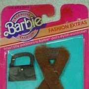 Never Removed from Card Barbie Fashion Extras, 1983 Mattel.