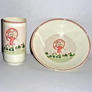 Minton Royal Doulton Golden Days Bowl and Vase Set