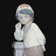 Lladro Best Foot Forward Figurine # 5738   Boy with Dog  Retired