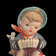 Vintage Lipper & Mann Boy with Birds Playing Squeezebox Figurine