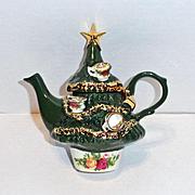 Royal Albert Christmas Tree Teapot  Small