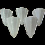 5 Satin Art Deco Slip Shades