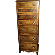 Mahogany Lingerie Chest with Desk, circa 1920's-30's