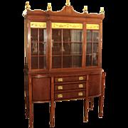 Hepplewhite (Federal Style) Mahogany China Buffet Cabinet, circa 1930's-40's