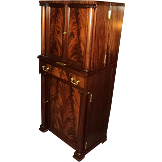 SALE Antique Mahogany Empire Liquor Cabinet Bar, ON SALE!