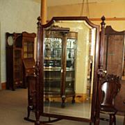Antique Mahogany Floor Dressing Mirror, circa 1900, ON SAlE!