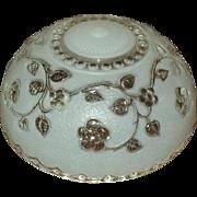 Bead Chain Fixture Shade, Satin & Clear Glass, 1920's