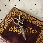 Miniature scissors 3/4 inch circa 1880 French fashion doll
