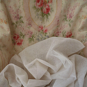 Ethereal vintage French off white stiffening tulle fabric : doll projects  50 inches wide