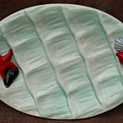 French Majolica Starfish Vallauris Oyster Master Server Dish 1970