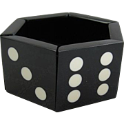 French Designed Black & White Domino Or Dice Stretch Resin Bracelet