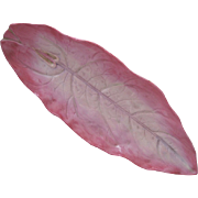 Beautiful Wedgwood Majolica Pearlware Long Leaf Platter