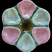 English Majolica Oyster Plate