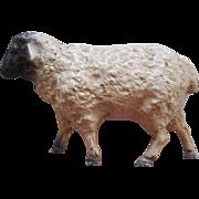 Vintage Cast Iron Figural Sheep Still Bank