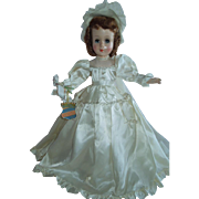 """LOVELY 18"""" Rare Hard Plastic Little Bride by The Royal Doll Company New York c.1951-52"""