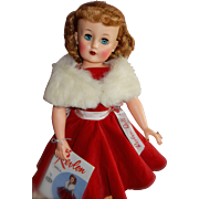 """WOW Boxed Rare Size 22"""" Miss Revlon Doll in Red Velvet Queen of Diamonds Outfit"""