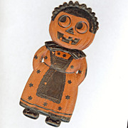 Small Jack O' Lantern Maid die cut Halloween decoration Nice! – German 1920s