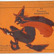 Dennison witch on a broom silhouettes circa 1927