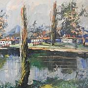 Impressionistic Landscape by listed Artist Morris Katz