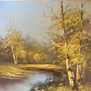 Spring Landscape Oil on Canvas by Artist Antonio Tano