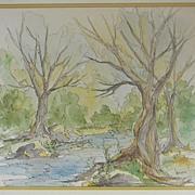 Joan Stier . Watercolor Landscape