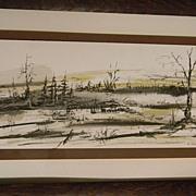 """Carbone . signed . Landscape   22"""""""