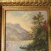 Older Hudson River Oil Painting Landscape