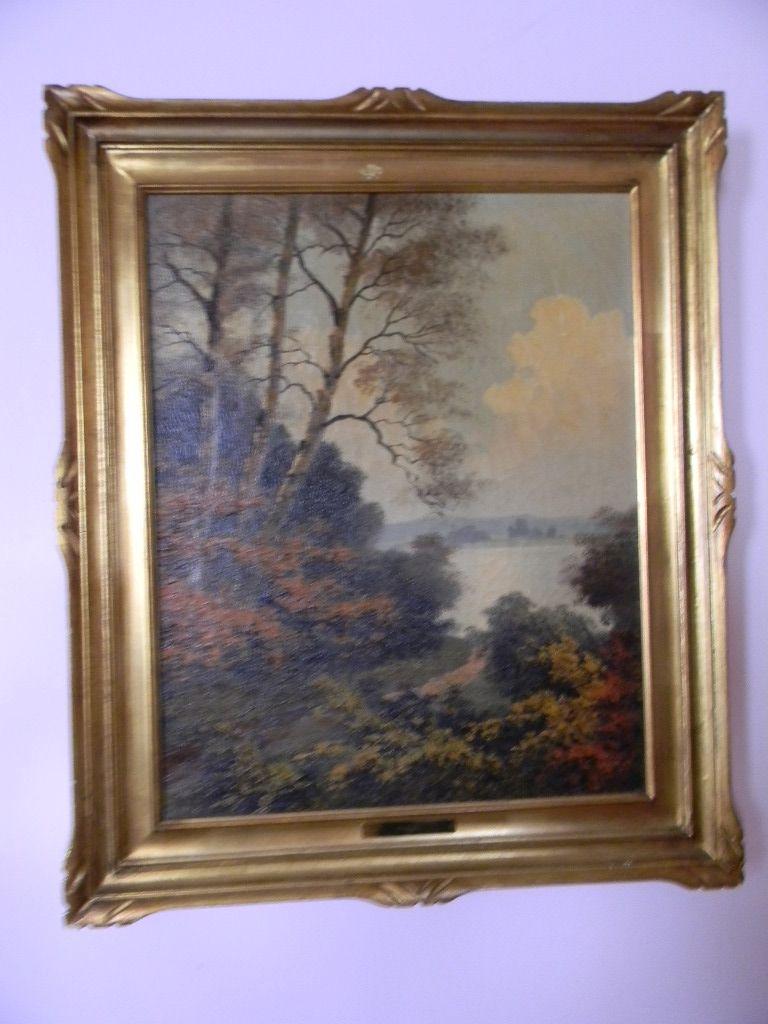 Paul Kujal . listed artist . Vintage Oil Painting Landscape