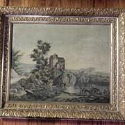 Antique Oil Painting Landscape . Great Details . Beautiful Frame