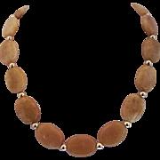 Pretty Yellow- Gold Quartz Single Strand Necklace