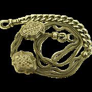 Antique French Ornate Silver Chatelaine Chain ~ Napoleon 111 Era