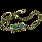 Antique French Ornate Silver Enamel Bracelet ~ Napoleon 111 Era ~ 1852-1870
