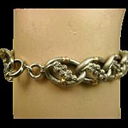 Superb French Silver & Rose Vermeil Bracelet ~ c1880