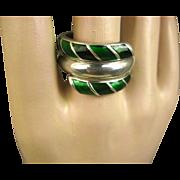 Vintage David Andersen Norway Enamel & Sterling Ring ~ 1960s