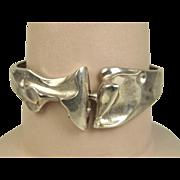Rare Björn Weckström Lapponia Finland Sterling 'Zelda' Bracelet ~ 1985