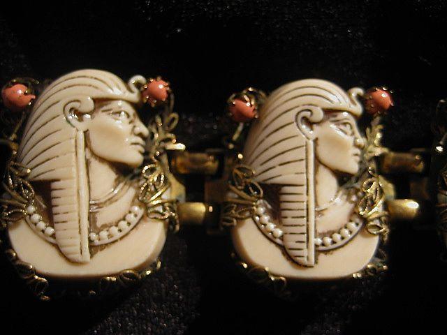 Selro Egyptian Pharaoh 1940's - 50's Bracelet ~ Super Condition