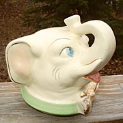Shawnee Lucky Elephant Cookie Jar Head Only Gold Trim