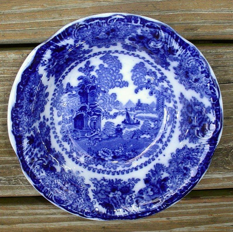 Adams Fairy Villas Flow Blue Cereal Bowl