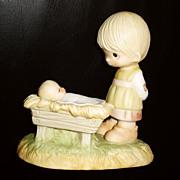 Precious Moments Come Let Us Adore Him Nativity 1978