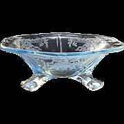 Fostoria June Blue 3 Ftd Mint Bowl