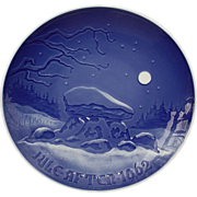 Bing & Grondahl 1962 Christmas Plate Winter Night B&G